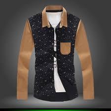 wholesale 2016 new fashion men polka dot casual shirt men slim