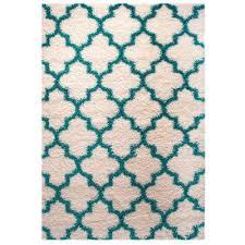 Polypropylene Area Rugs Shag Rug Shag Rug White Turquoise High Quality Carpet