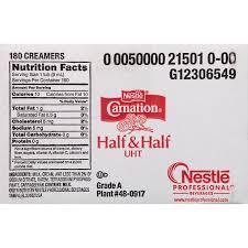 carnation half and half liquid creamer singles 180 count amazon