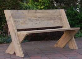 Wooden Bench Design Bench Best 20 Outdoor Wood Ideas On Pinterest Diy Intended For