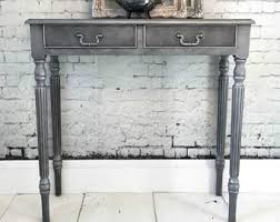 Narrow Console Table With Drawers Narrow Console Table Etsy