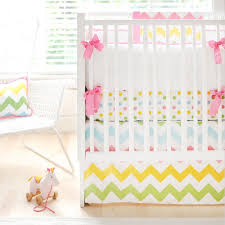 rainbow chevron baby bedding and nursery necessities in interior