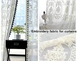 Lace Fabric For Curtains Embroidery Fabrics Etsy