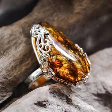 design rings images Large amber ring cognac and vine design 010 brighton silver jpg