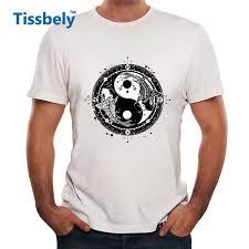 aliexpress yang tissbely yin and yang tattoo graphic men tee shirts two japanese