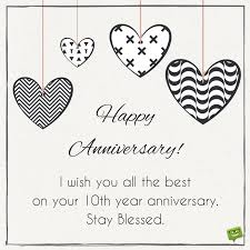 10th year wedding anniversary milestone marriage anniversary wishes for a special