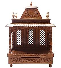 shilpi handcrafted wall mounted temple and wall shelf in sheesham home wooden temple design peenmedia