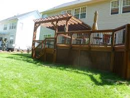 Screened In Pergola by Deck Building Trex Redeck Archadeck Charlotte Archadeck Of