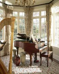 livingroom window treatments grand piano living room living room traditional with music room