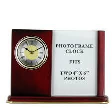 Mahogany Desk Accessories Clock Photo Frame Mahogany Desk Set
