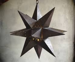 decorative stars for homes large vintage punched metal star candle holder moravian star