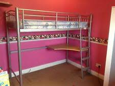 Metal High Sleeper With Desk Bunk Bed Metal High Sleeper With - Jay be bunk beds