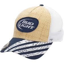 hats with lights built in men s bud light straw baseball cap with bottle opener walmart com