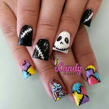 the nightmare before christmas halloween nails pinterest