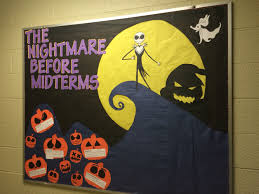 my ra bulletin board for october i was going for a midterm theme