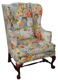 baker chippendale style ball u0026 claw foot wingback chair chairish