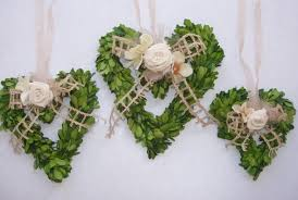 decorating preserved boxwood wreaths heart shaped with decorative