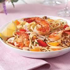 cuisiner des crevettes linguines aux crevettes chignons et poivrons soupers de