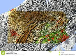 Relief Map Pennsylvania Relief Map Royalty Free Stock Photos Image 5573558