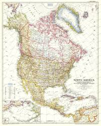 North America Maps by 1952 North America Map Historical Maps