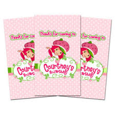 10 strawberry shortcake birthday party favor personalized thank