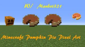minecraft pumpkin pie pixel art halloween pixel art youtube