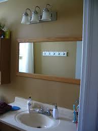 bathroom light off center mirror sink design mirrors home off