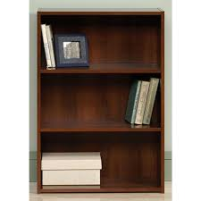 Sauder White Bookcase by Sauder Beginnings Brook Cherry Open Bookcase 416438 The Home Depot