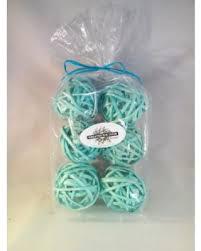 slash prices on decorative spheres aqua rattan vase filler