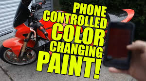 amazing color changing paint phone controlled youtube