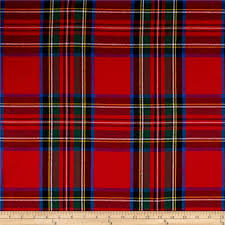 red plaid flannel fabric com