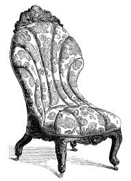Couch Drawing Victorian Furniture Clip Art Vintage Couch Set Living Room Sofa