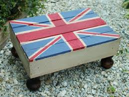 painted furniture hand painted union jack footstool by ymeier