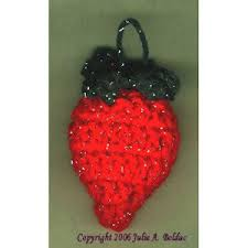 strawberry ornament a free pattern listed in the library of the