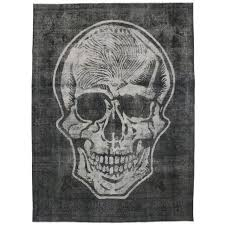 Over Dyed Distressed Rugs Distressed Overdyed Vintage Skull Rug With Unconventional Design