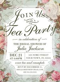 bridal tea party invitation formal tea party invitation we like design