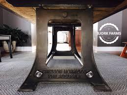 iron horse table base philadelphia vintage industrial cast iron table base iron table