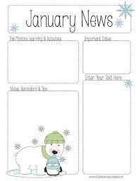 january newsletter template svoboda2 com