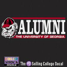 uga alumni sticker uga bulldog alumni decal