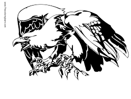 eagle tattoo coloring pages clip art library