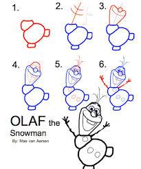25 olaf drawing ideas frozen drawings