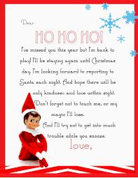 Printable Santa List Templates Elf On The Shelf Letter Free Printable Elves Printable