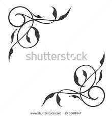 flower corner border designs vector free 123freevectors