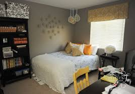 simple yellow and grey bedroom decor on home design furniture