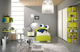 white black wall paint colors cream colored sofas brown wooden bedroom computer desk corner beside glass window polkador pattern bedding sheets black iron legs small color