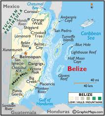 Western Caribbean Map by Belize
