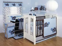 featured blue baby boy nursery ideas with pendant lighting and