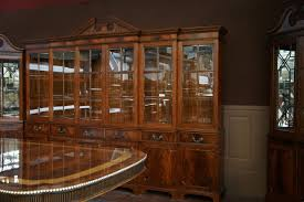 china cabinet high end american made walnut dining table round