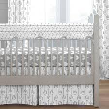 silver gray arrow crib bedding carousel designs