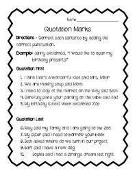 Quotation Marks Worksheet Quotation Marks And Commas Thebridgesummit Co
